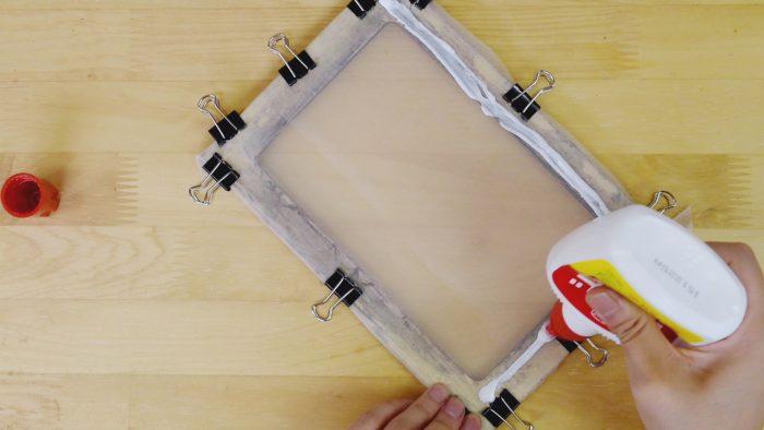 スクリーンの張り方-絹3