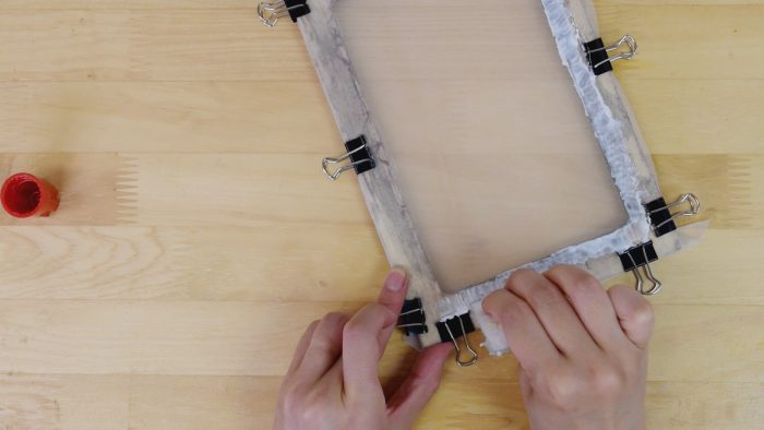 スクリーンの張り方-絹4