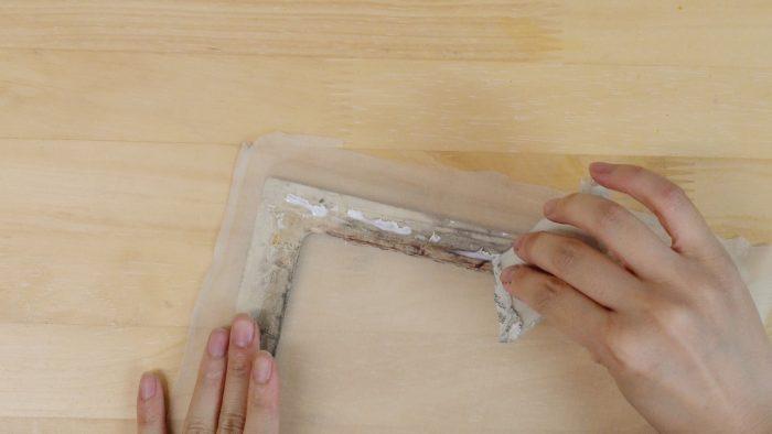 スクリーンの張り方-絹7