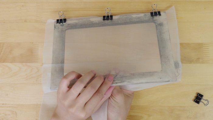 スクリーンの張り方-絹2